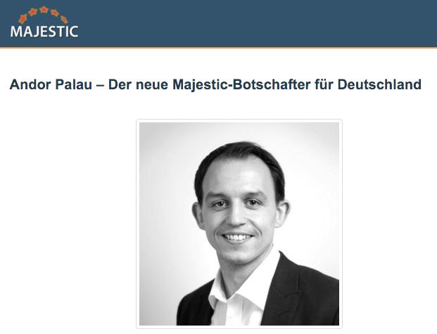 Andor Palau - Majestic Ambassador Deutschland